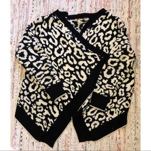 Black & White Cheetah Print Sweater